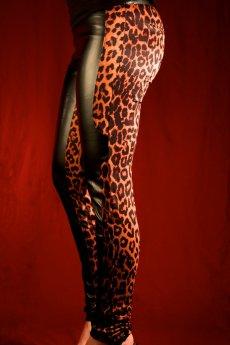 Leopard Print Contrast Pants by Nikibiki