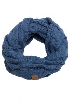 Cable Knit Inifinity Scarf by C.C.