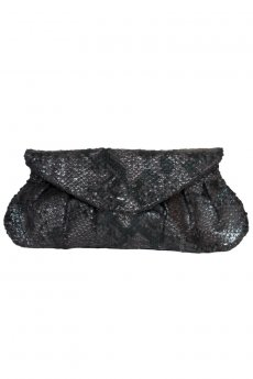 Material Girl Snakeskin Clutch by Urban Expressions