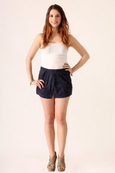Suede Origami Shorts by She and Sky