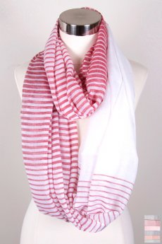 Fading Stripes Infinity Scarf by Love of Fashion