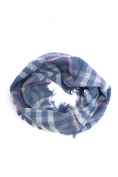 Blue and Pink Plaid Infinity Scarf by Life is Beautiful