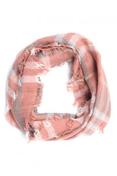 Rose Plaid Infinity Scarf by Life Is Beautiful