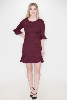 Knit Ruffle Dress by She and Sky