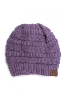Violet Fuzzy Lining Beanie by C.C.