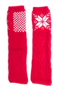 Red Snowflake Arm Warmers by Urbanista