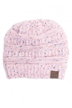 Pale Pink Confetti Beanie by C.C.