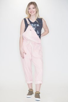 Pink Denim Overalls by Fantastic Fawn