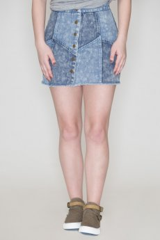 Two Tone Denim Skirt by She and Sky