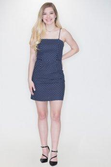 Navy Polka Dot Cami Dress by She and Sky