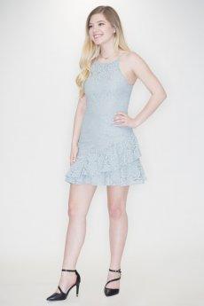 Lace Flounce Hem Dress by She and Sky