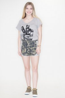 Camouflage Print Shorts by Fantastic Fawn