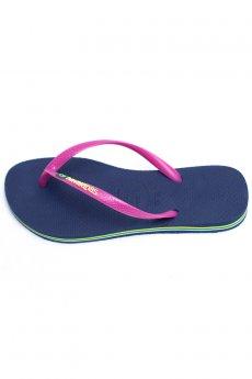 Navy Slim Brazil Sandal by Havaianas