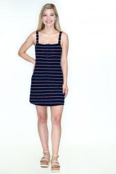 Striped Hook and Eye Mini Dress by Blue Blush