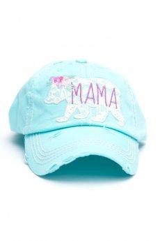 Diamond Blue Mama Bear Baseball Cap by Kbethos