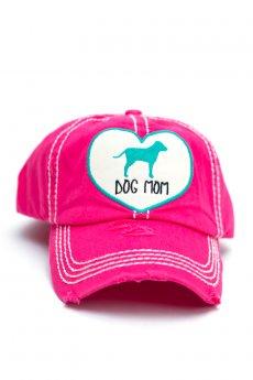 Hot Pink Dog Mom Baseball Cap by Kbethos