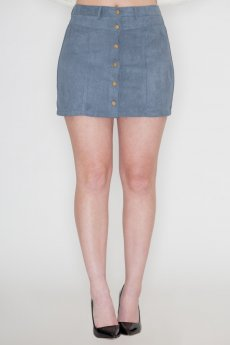 Vegan Suede Skirt by She and Sky