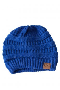 Royal Blue Knit Beanie by C.C.