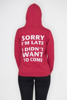 Sorry I'm Late Hoodie by May 23