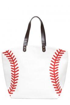 Baseball Tote Bag by Love of Fashion