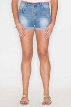 High-Rise Denim Shorts by Listicle
