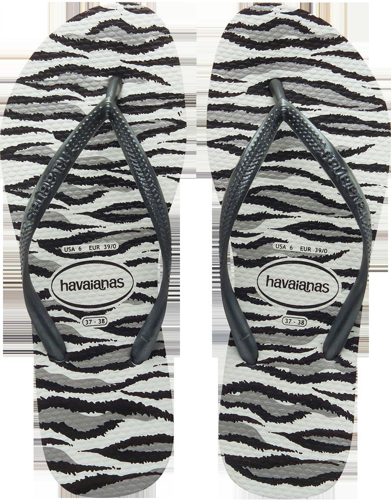 Havaianas Havaianas Slim Zebra Animal Sandals
